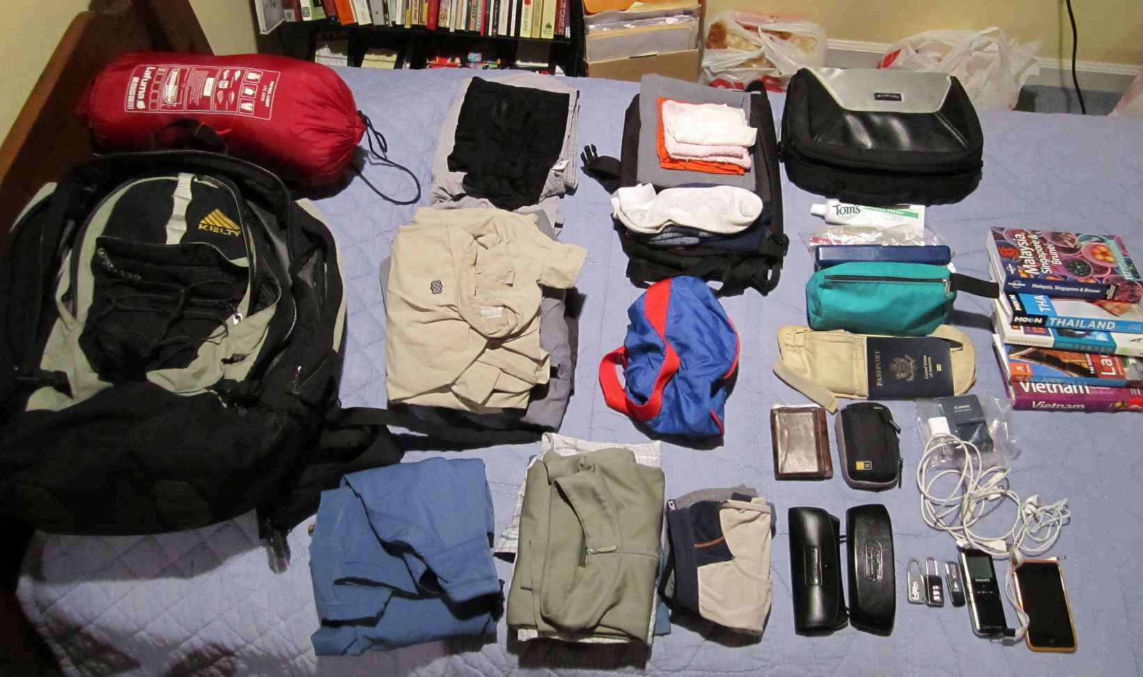 what pack travelling southeast asia