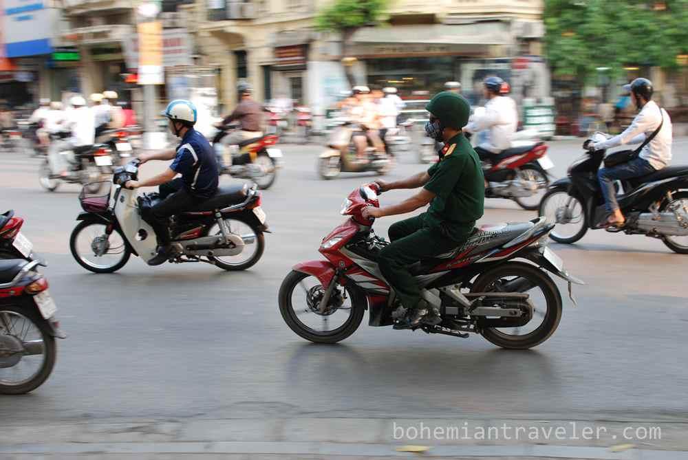 Hanoi Vietnam traffic panning