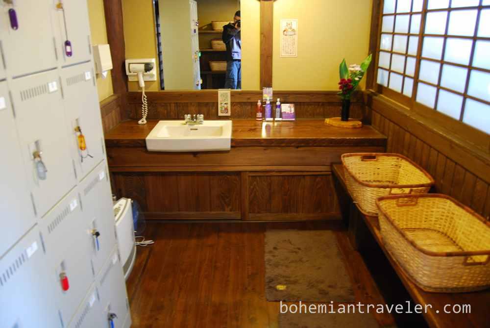 at Okyakuya ryokan onsen at Kurokawa Onsen village Kyushu Japan