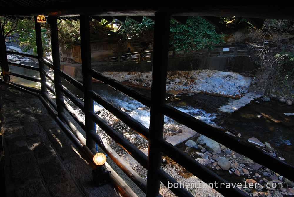 View of the stream from Okyakuya Ryokan.