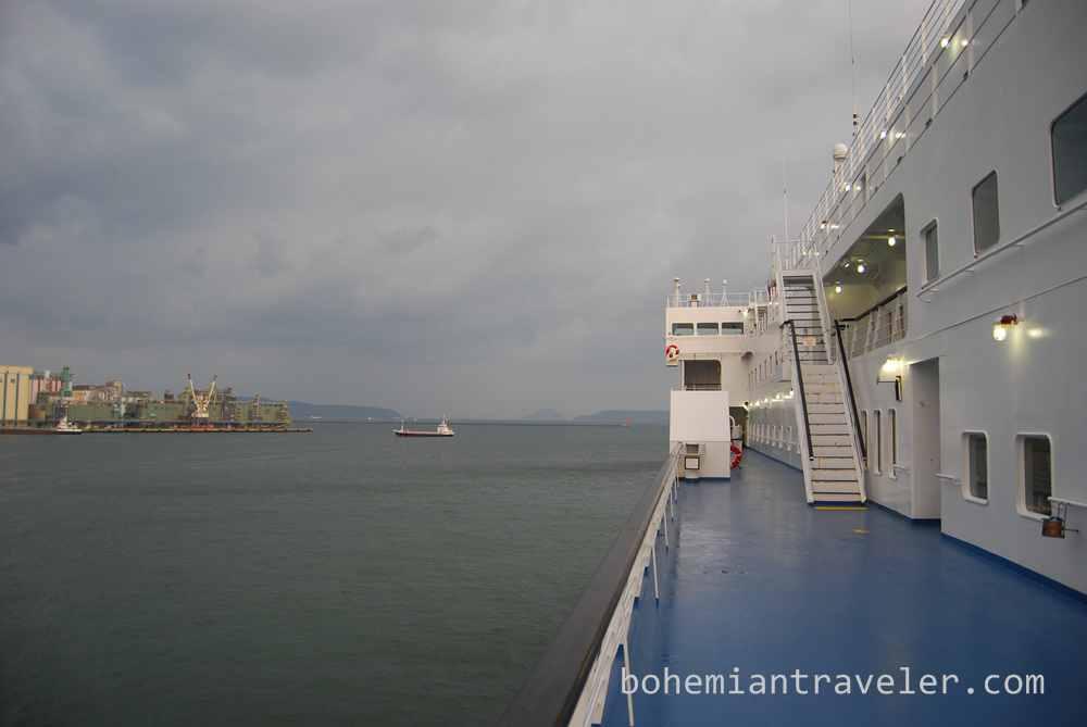 Sailing to Japan