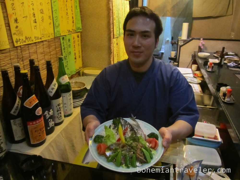 mackeral sashimi at Takamanohara (2)