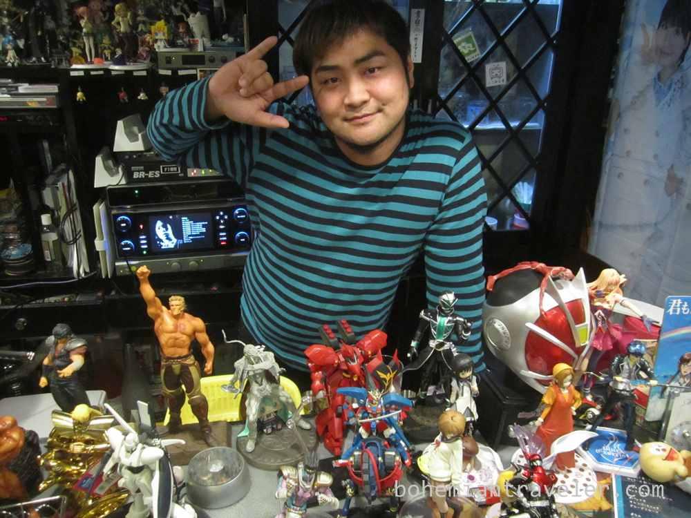 bar master at Anime-themed bar Anitama in Beppu Japan