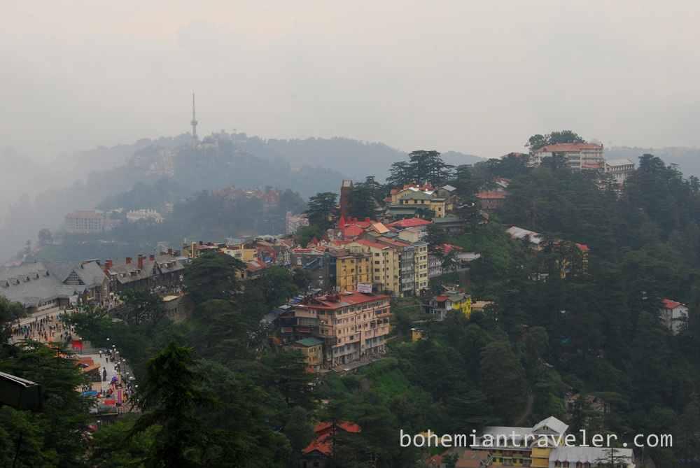 View over Shimla India