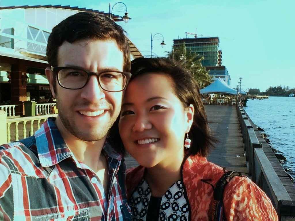 Juno and me in Kota Kinabalu.