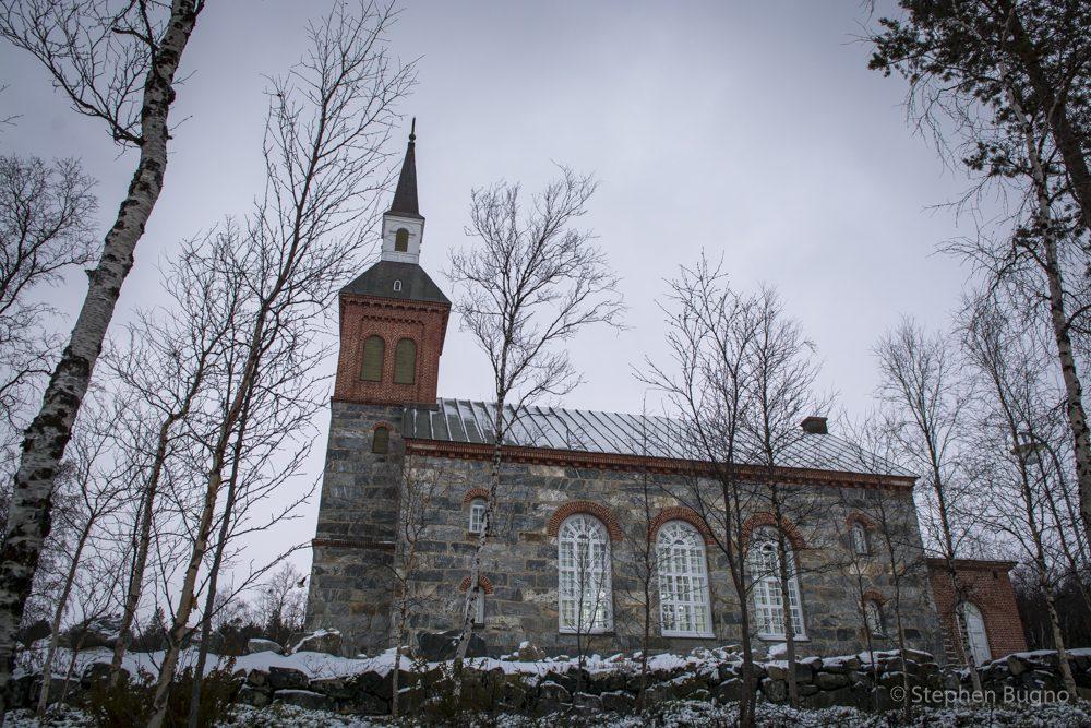 lapland in winter utsjoki church